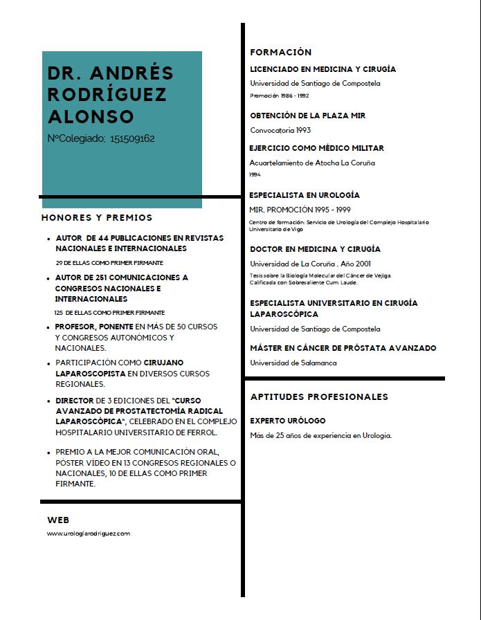 Currículum Vitae del Dr. Andrés Rodríguez